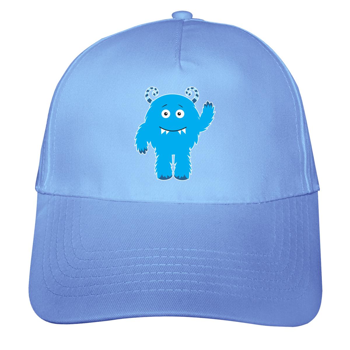 hellblau/farbiger Aufdruck