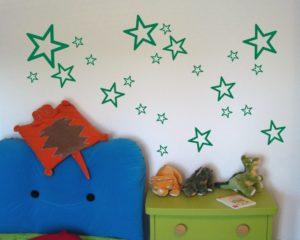 Wandaufkleber Sterne