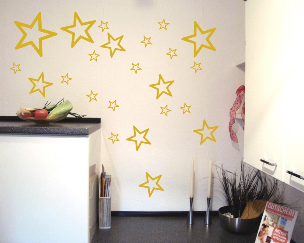 wandtattoo sterne outline set als kinderzimmer deko kiddikiste. Black Bedroom Furniture Sets. Home Design Ideas