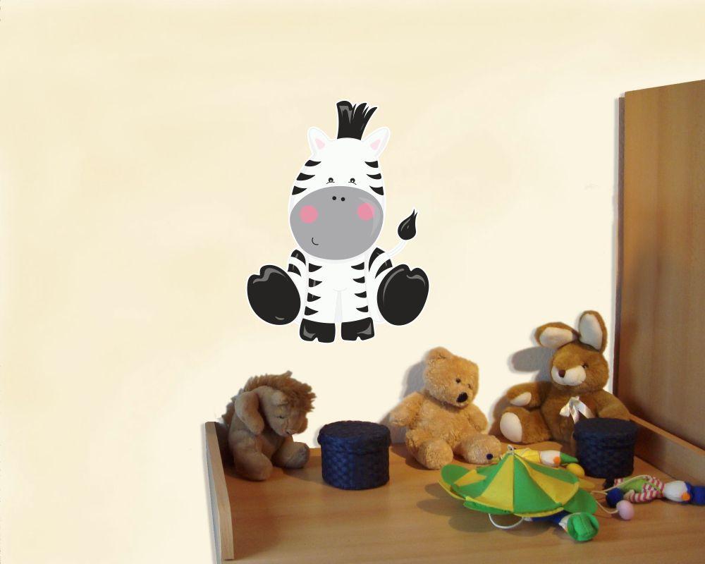 Wandtattoo Süßes Zebra als Kinderzimmer Deko – KIDDIKISTE