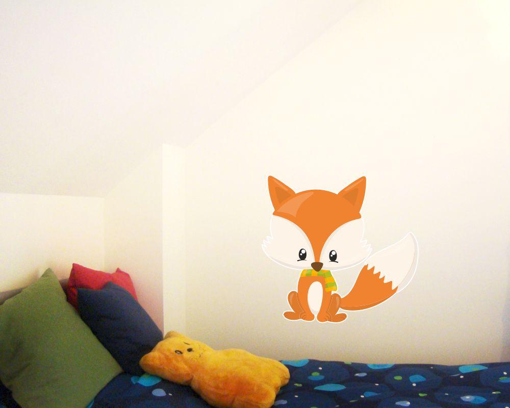 Wandtattoo Baby Fuchs Als Babyzimmer Deko Kiddikiste