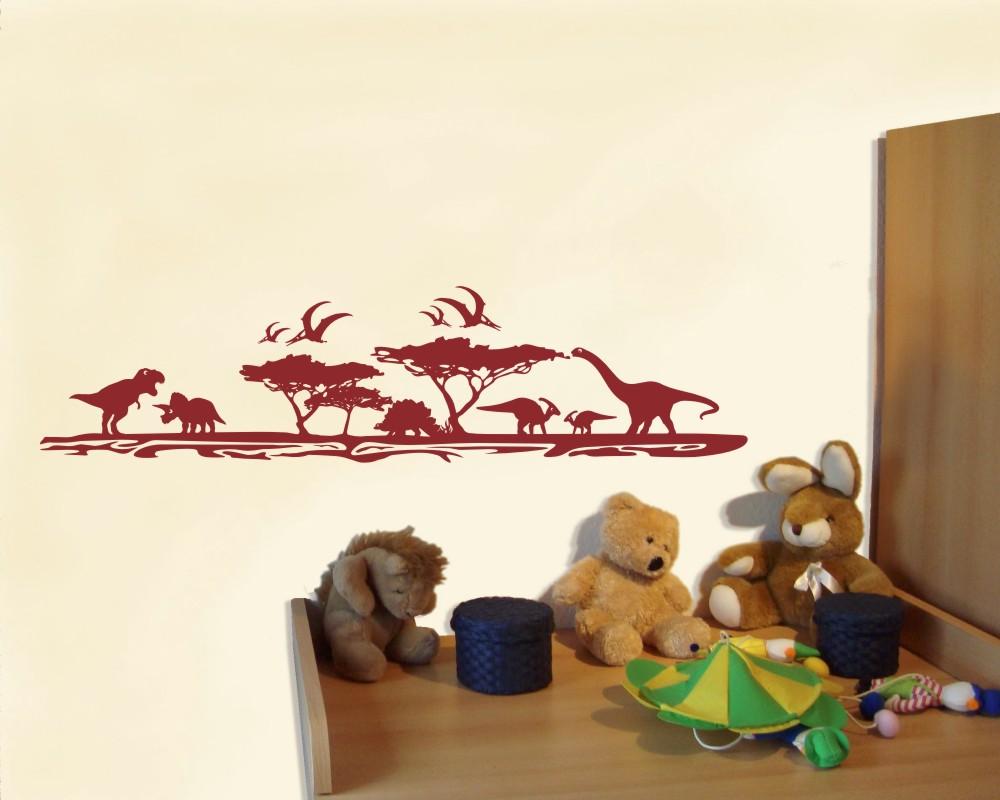 ᐅ Wandtattoo Dinosaurier Landschaft Als Kinderzimmer Dekoration